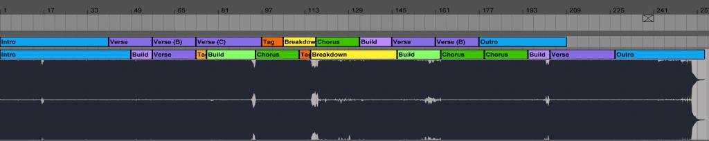 EDX Remix of Elements vs original structure in Ableton Live