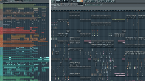 Lots of tracks in FL Studio vs Not many