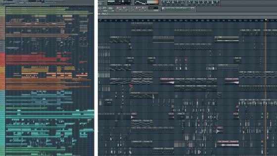 Lots of tracks in FL Studio vs Not many