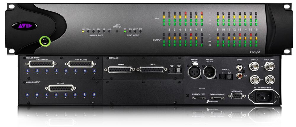Avid HD I/O front & back