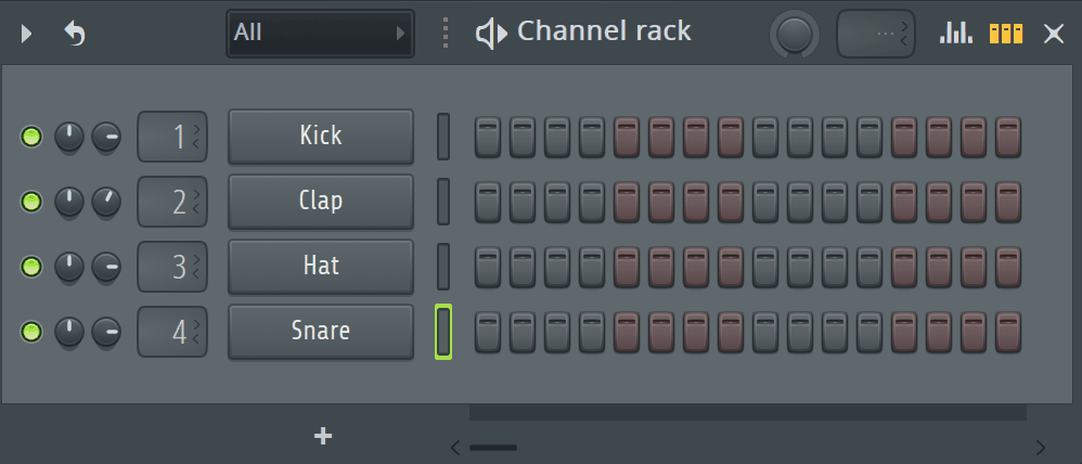 FL Studio Channel Rack