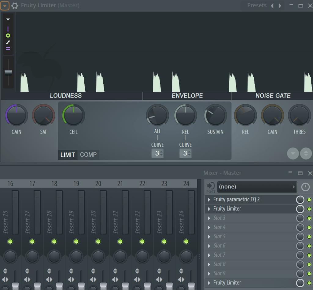 FL Studio Mixer Inserts