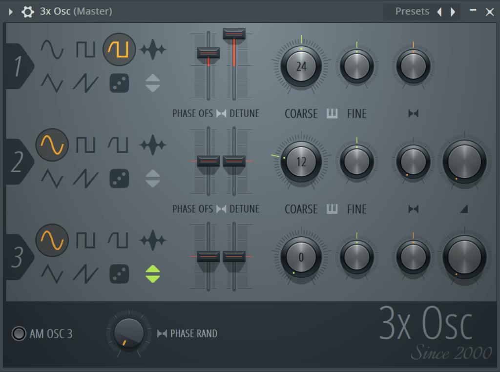 FL Studio 3x Osc