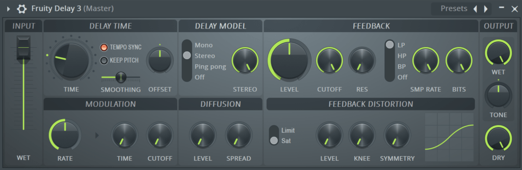 FL Studio Fruity Delay 3