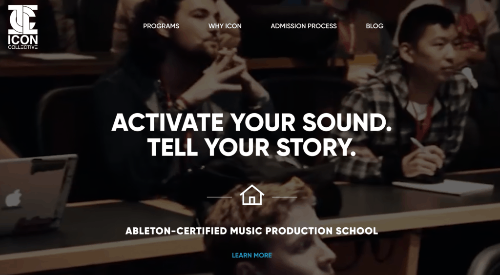 Icon Collective Music Production School Website