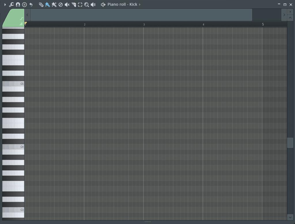 FL Studio Piano Roll Velocity Editor