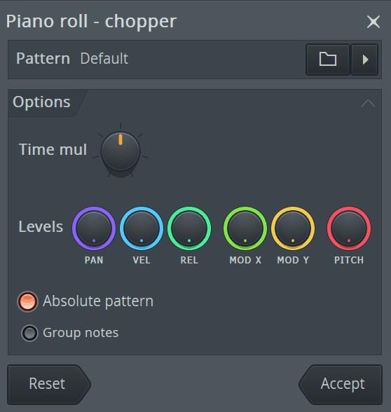 FL Studio Piano Roll Chopper