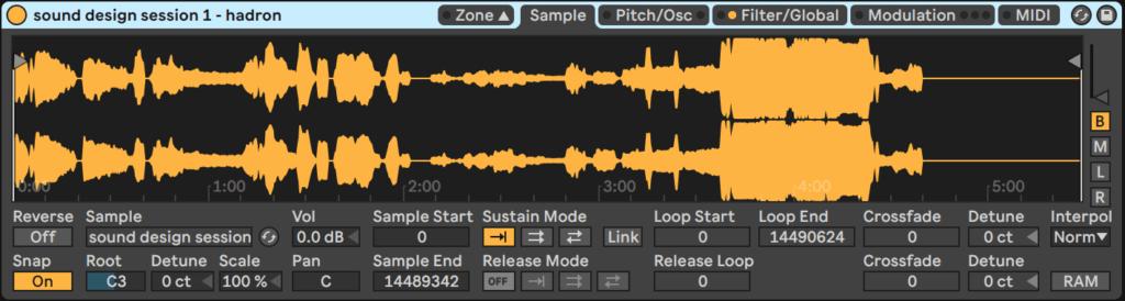 Ableton Live Sampler