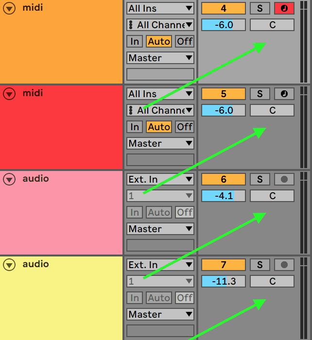 Ableton Live Panning Knob