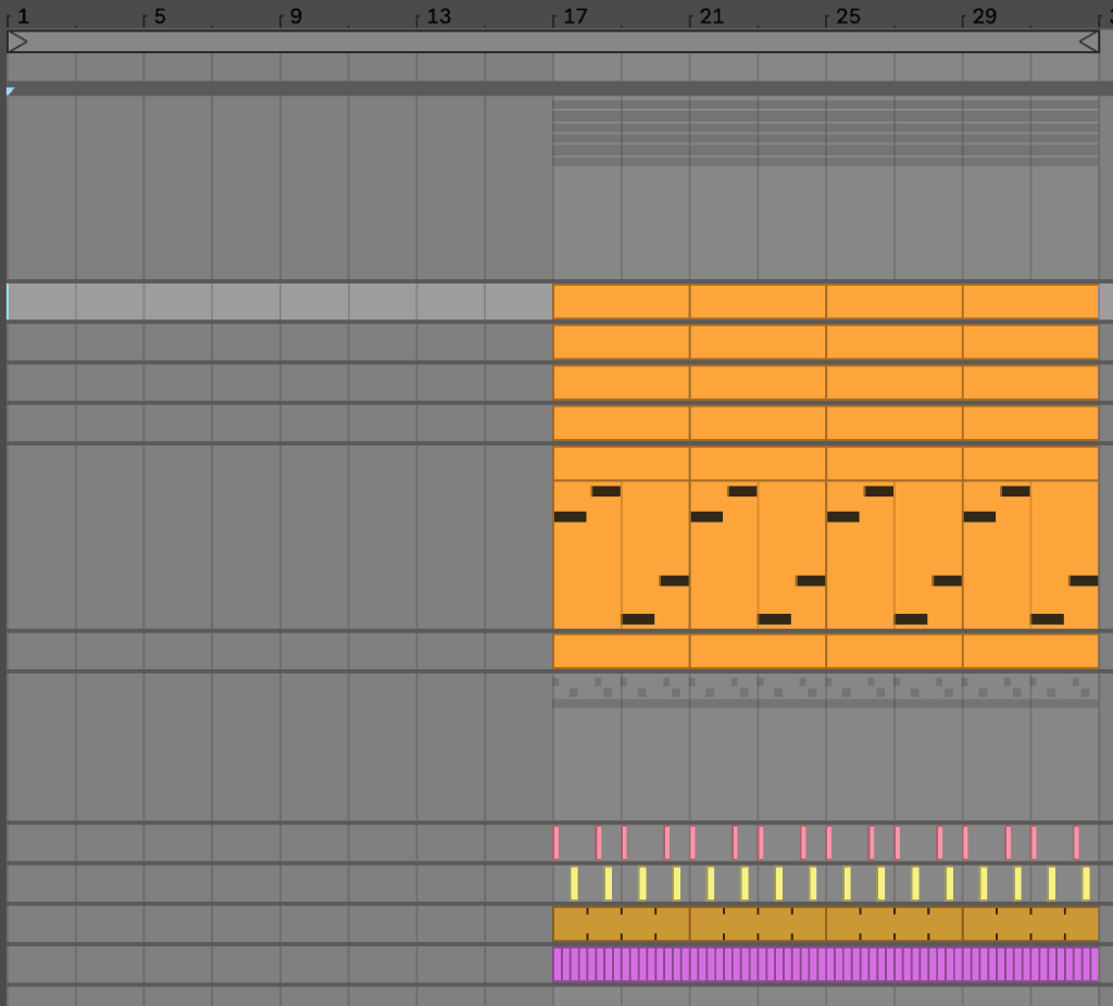Adding Time in Ableton Live for Intro