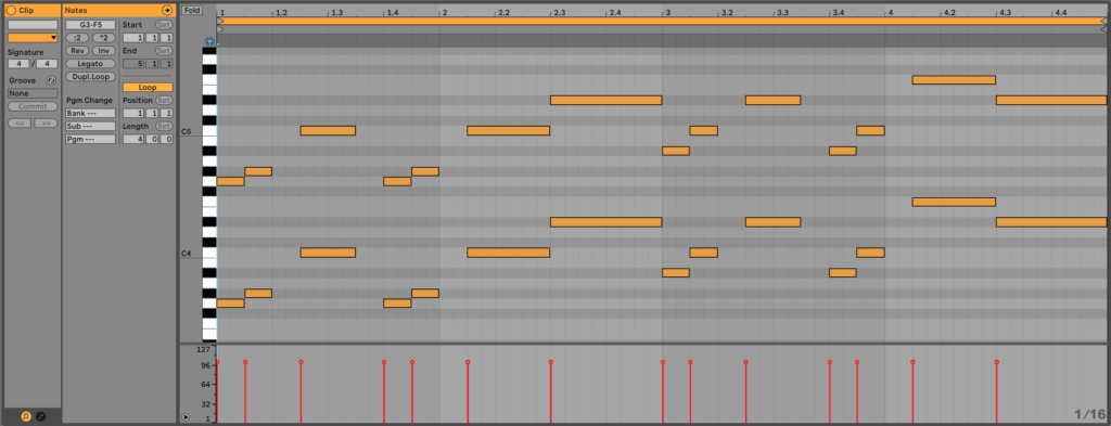 Lead Synth Melody Double Octave