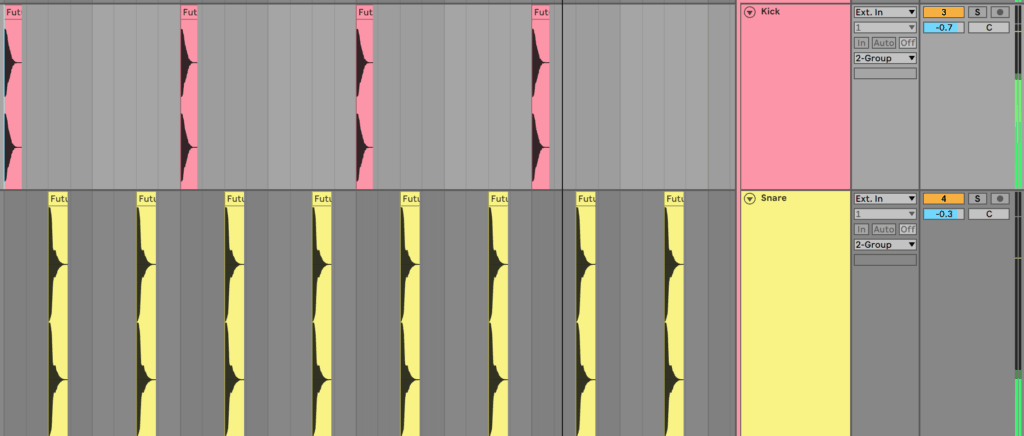 Kick Snare Pattern in Ableton Live