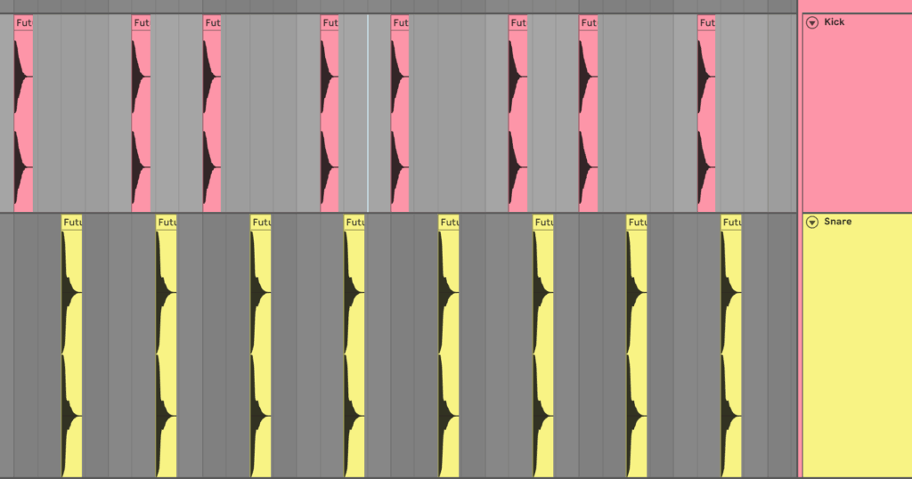 Kick Snare Pattern Changed in Ableton Live