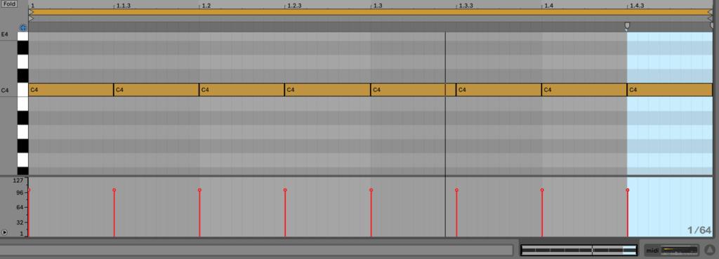 Hi-hat MIDI Notes