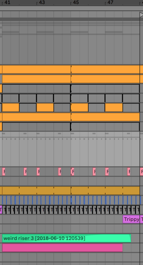 Switchup Arrangement in Ableton Live