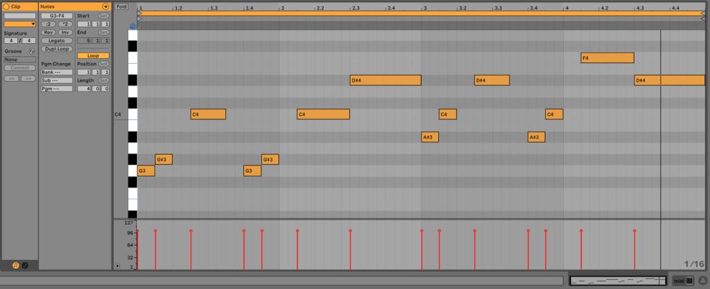 Lead Synth Melody MIDI