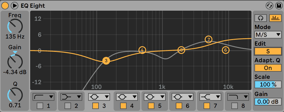 Mid/Side EQ Example