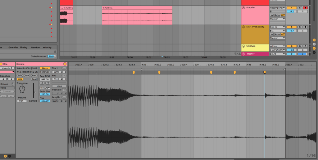 Ableton Live Warping with Warp Markers