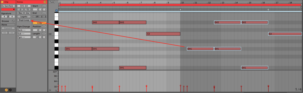 Ableton Live 10 Duplicate Loop