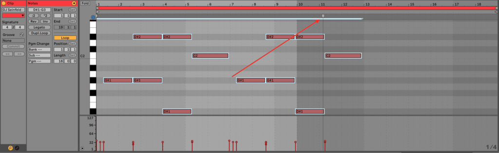 Ableton Live 10 MIDI Stretch Marker