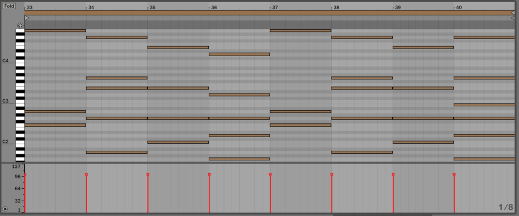 Ableton Live 10 - Piano Roll Chords