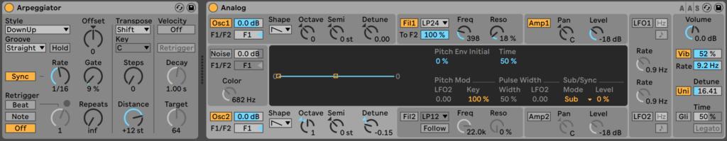 Ableton Live 10 - Arpeggiator & Analog