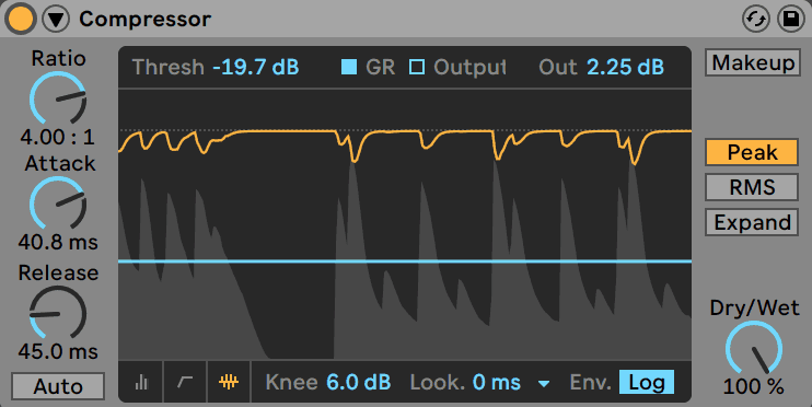 Ableton Live Compressor for Transient Shaping