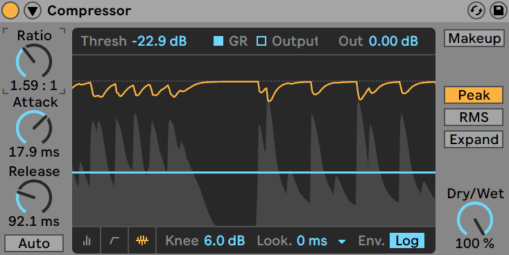 Ableton Live Compressor Smooth Compression