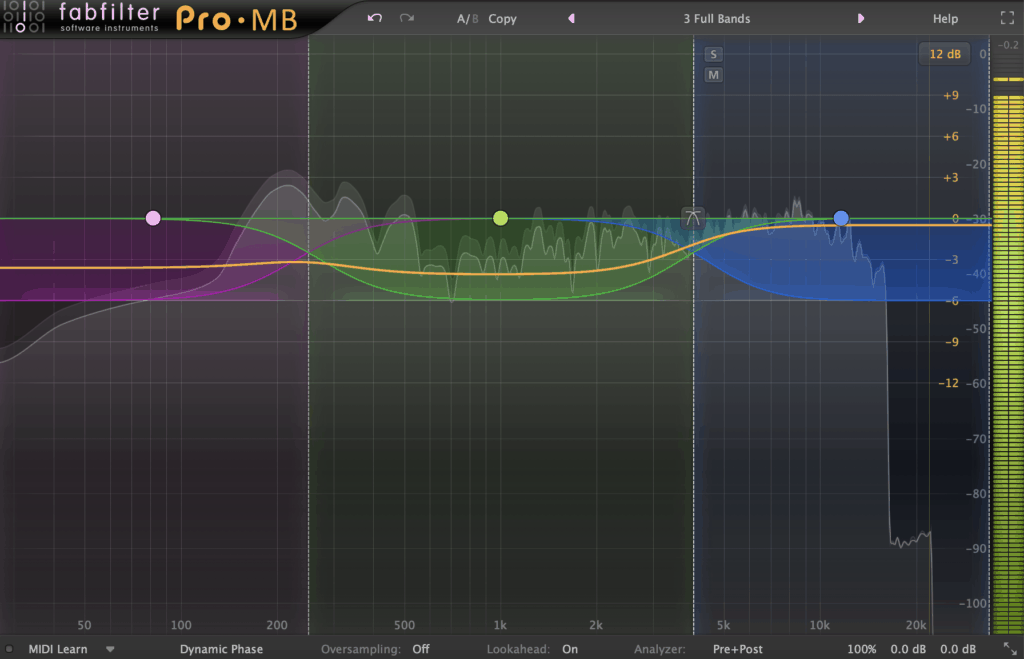 FabFilter Pro-MB 3 Bands Multiband Compression