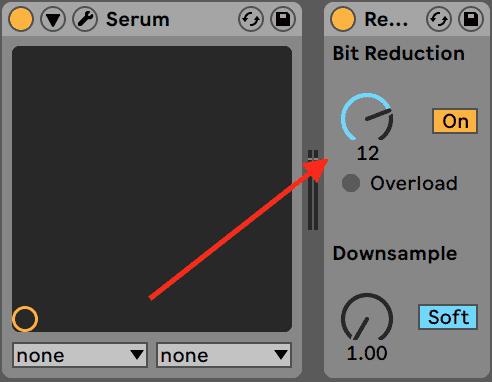 Bitcrushing in Ableton Live Redux