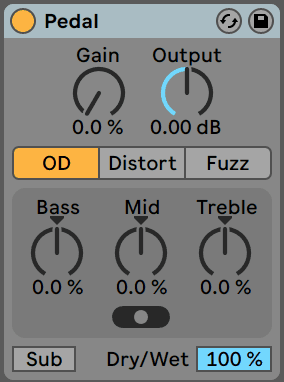 Ableton Live Pedal