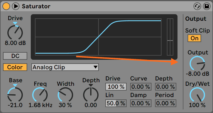 Distortion Output Gain