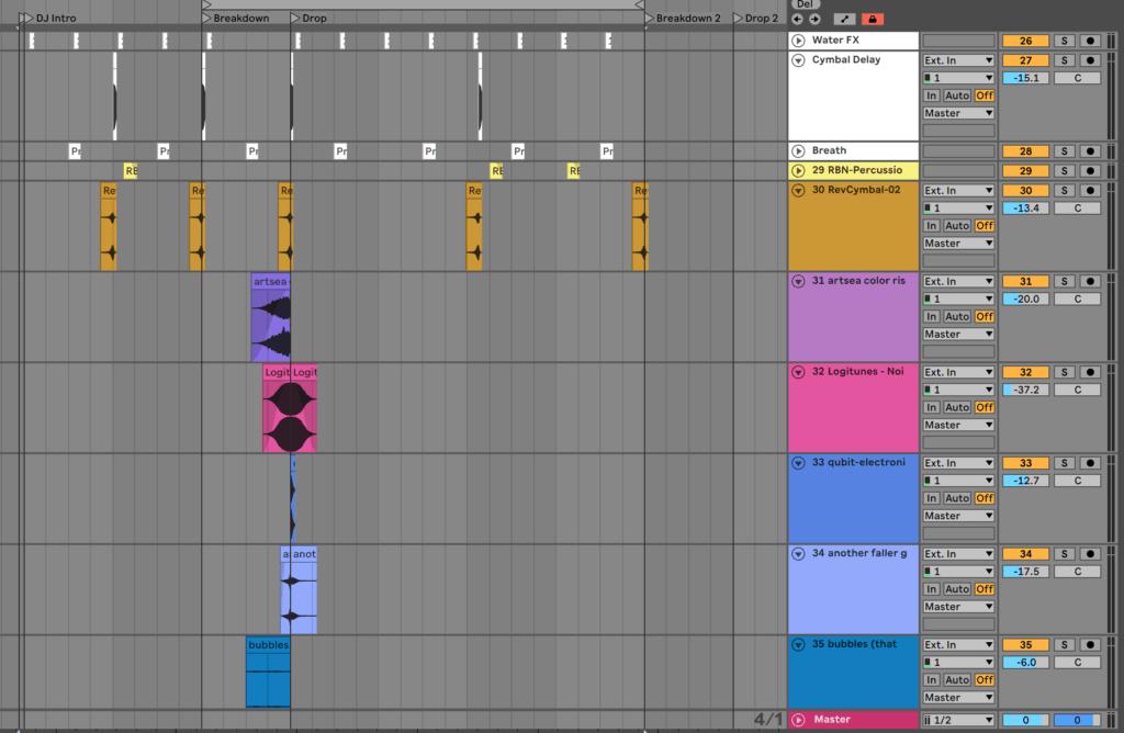 Ableton Live FX Tracks