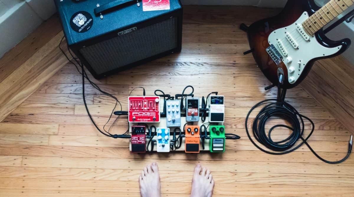 Guitar Pedals + Amp