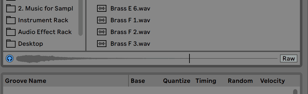 Ableton Live Preview Tab