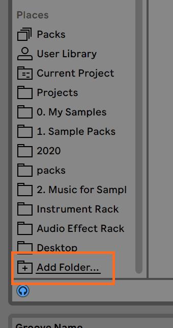Ableton Live Add Folder