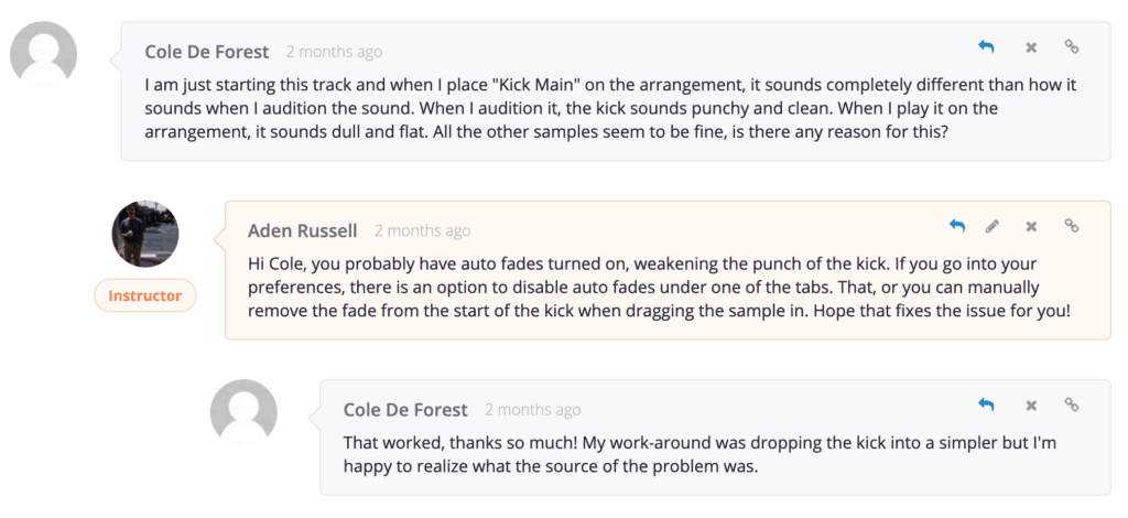 EDM Foundations Auto Fades Comment