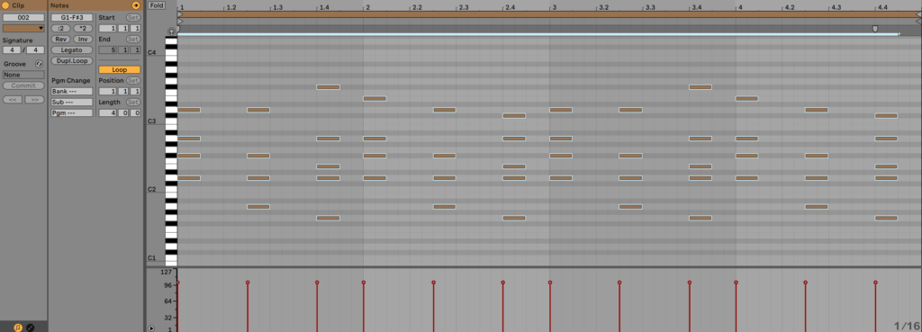 Ableton Live Piano Roll and MIDI Editor