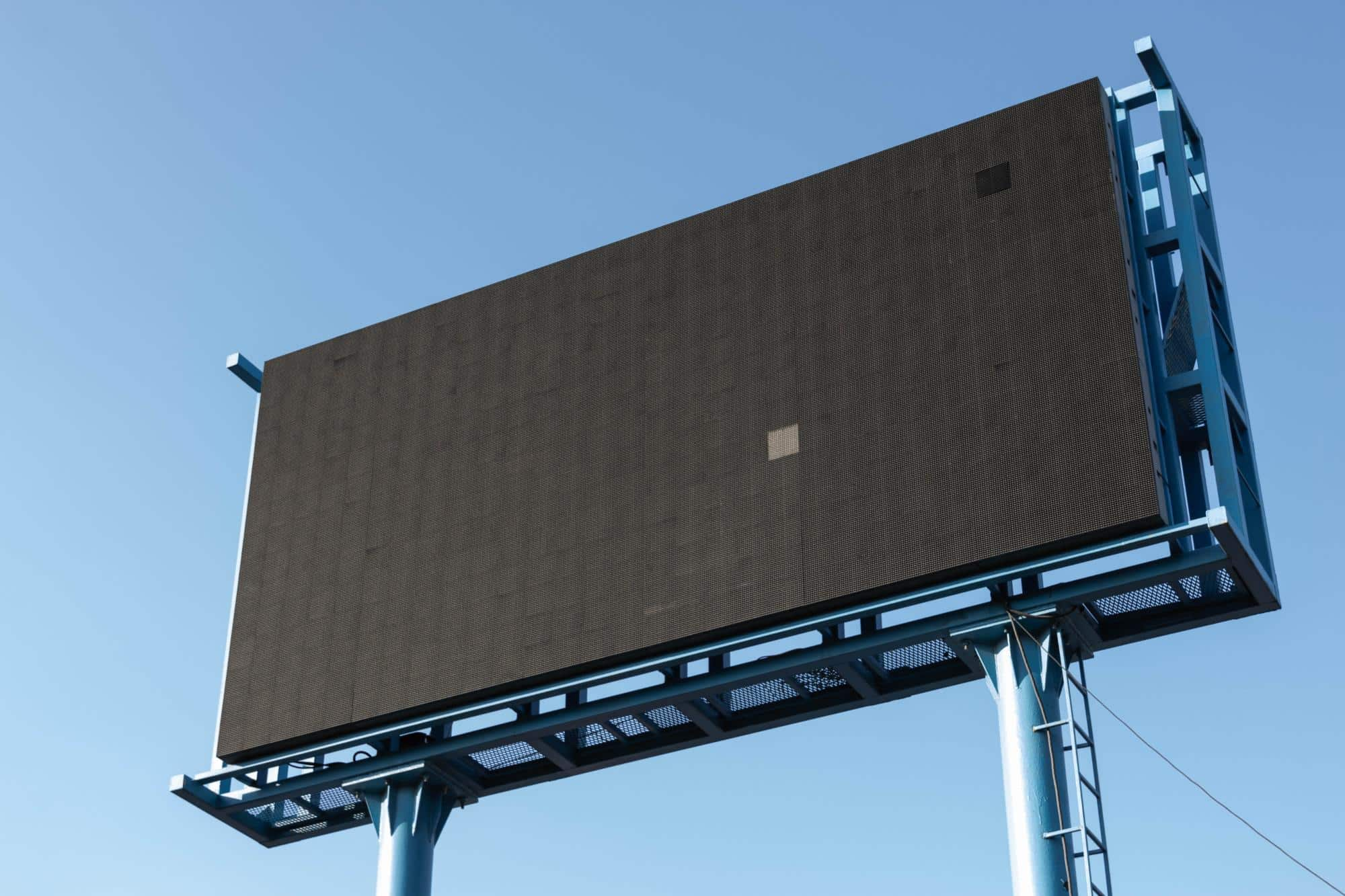 The reason for me to photograph this billboard is that it was turned off :) by Paweł Czerwiński