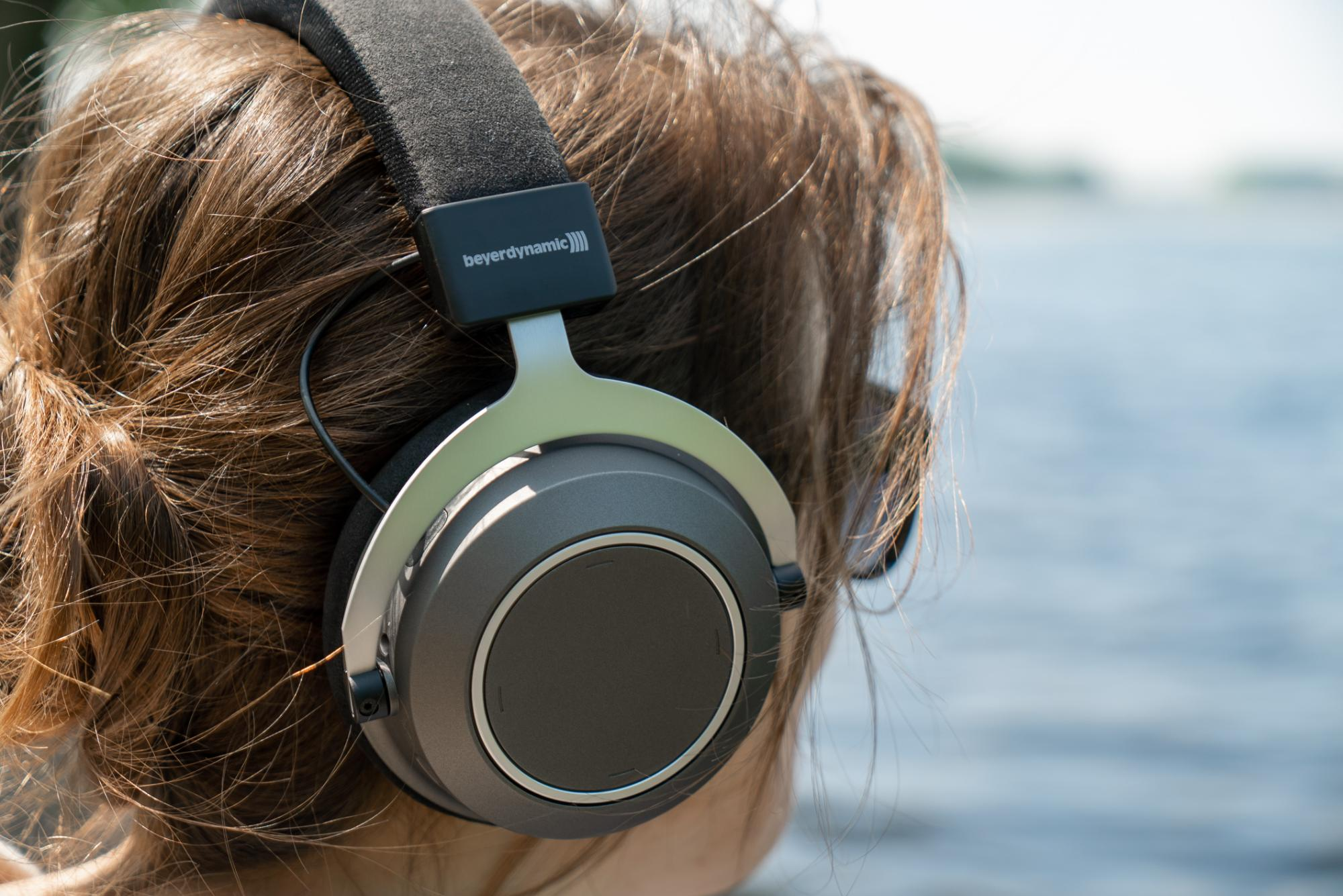 Beyerdynamic Amiron wireless over-ear headphones on the Rhine in Bonn,Germany. by Mika Baumeister