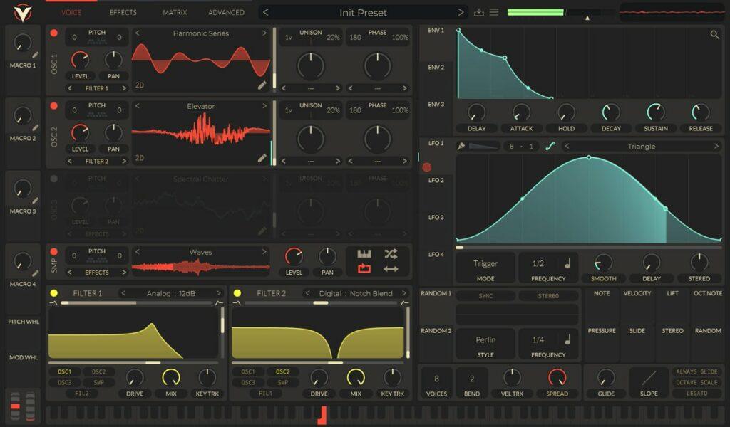 Matt Tytel Vital plugin interface