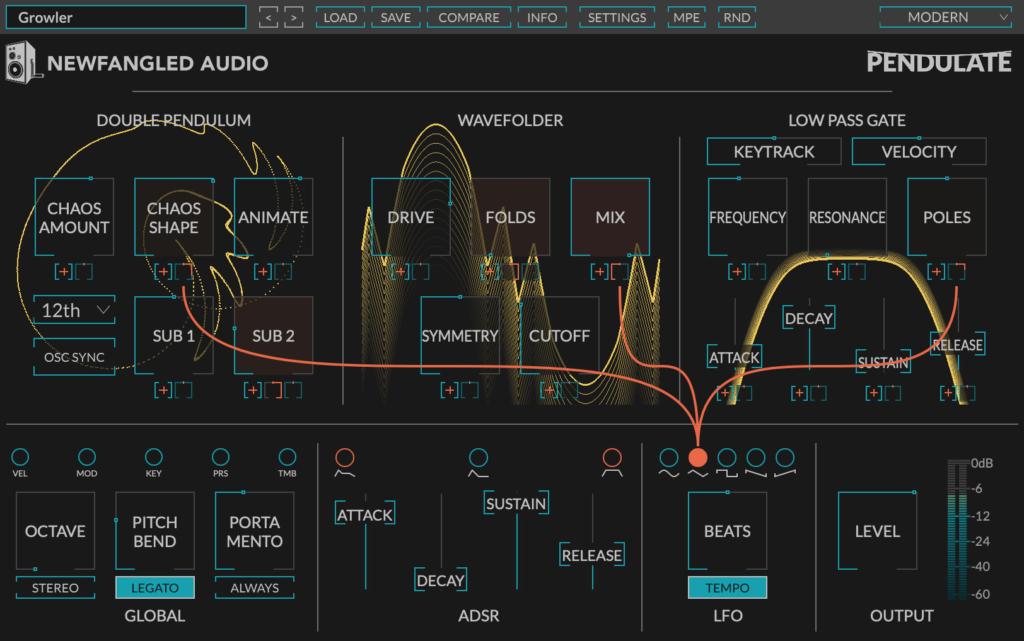 Newfangled Audio Pendulate plugin interface