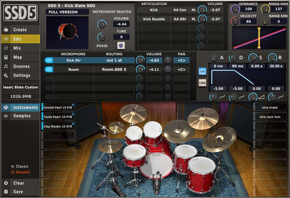 Steven Slate Drums Free plugin interface