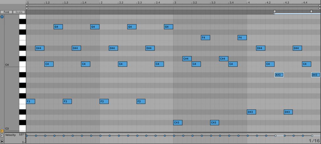An arpeggio-based melody