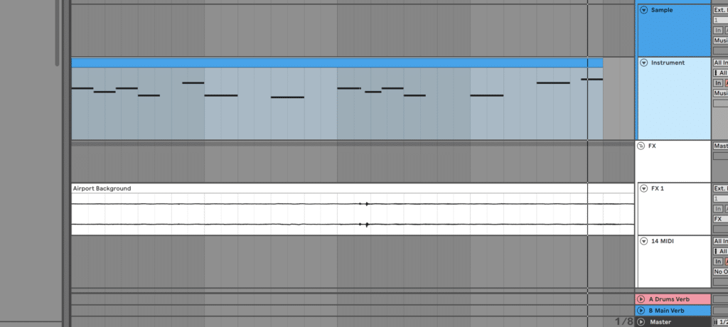 Programming melody notes based on audio sample