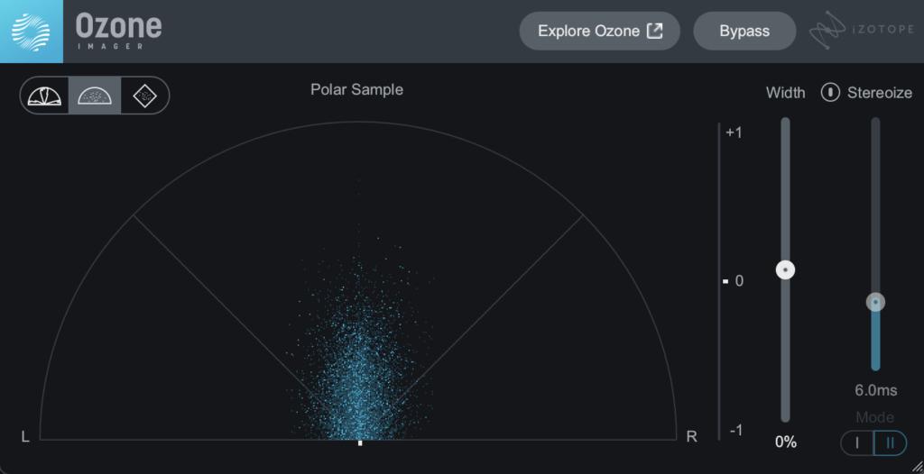 iZotope Ozone Imager 2 plugin interface