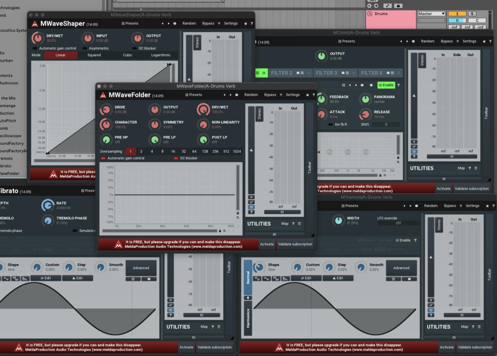 MeldaProduction MFreeFXBundle plugin examples