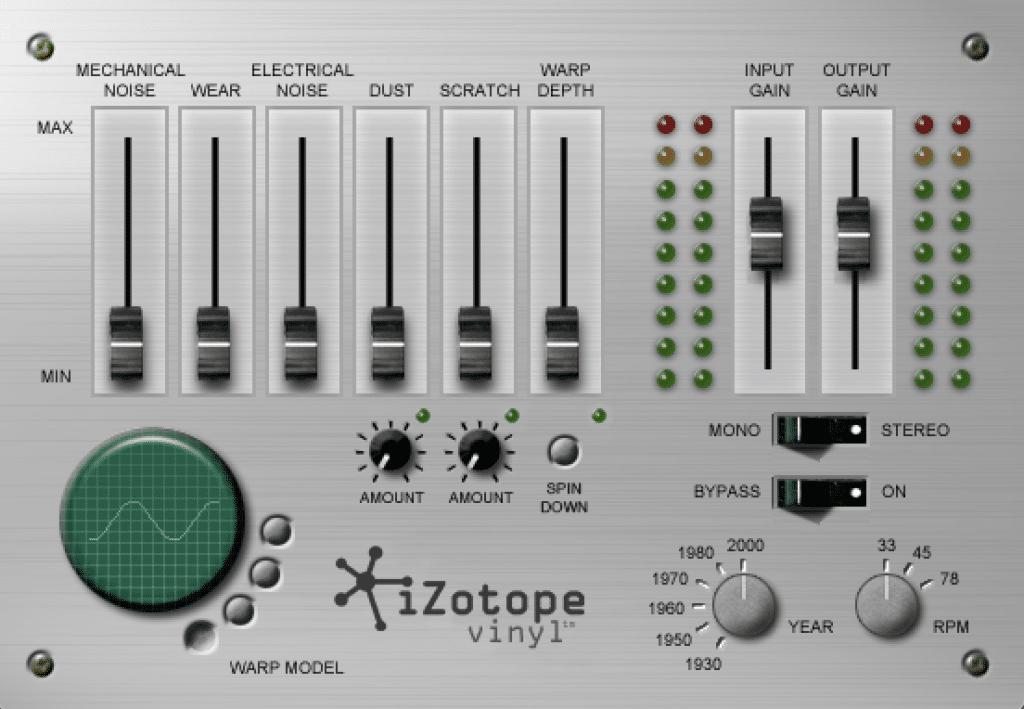 iZotope Vinyl plugin interface