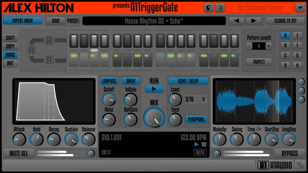 Alex Hilton A1TriggerGate plugin interface