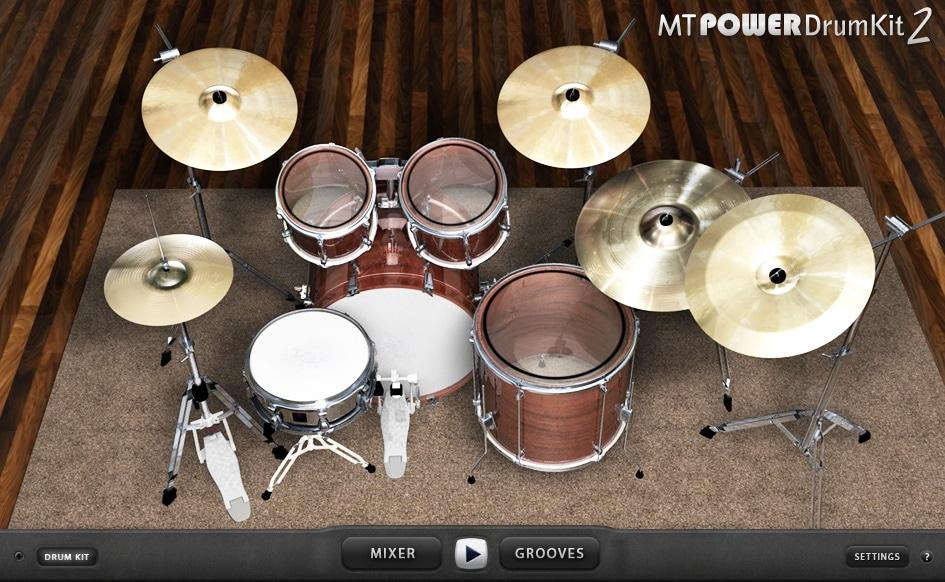 MT Power Drum Kit 2 plugin interface
